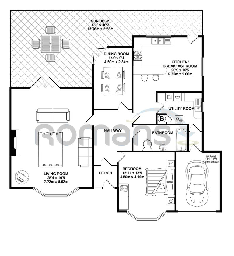 1 floor plan with watermark b&w no disclaimer