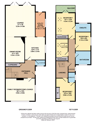 Coloured Floor Plan Example